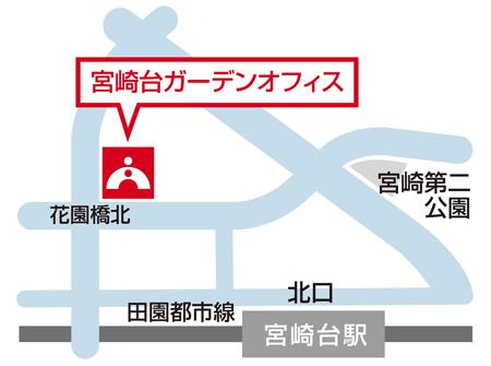TOMAS宮崎台校の地図