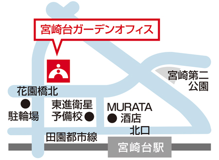 TOMAS宮崎台校 地図