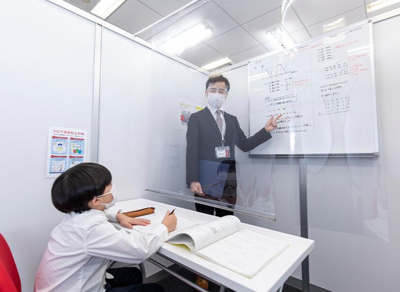 飛沫感染防止用の大型ビニールカーテン